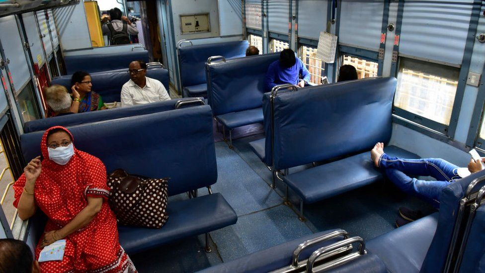 Around 25% to 30% drop of passenger traveling from Mumbai to Pune in Deccan Queen was observed after coronavirus outbreak, at CSMT, on March 16, 2020 in Mumbai, India.