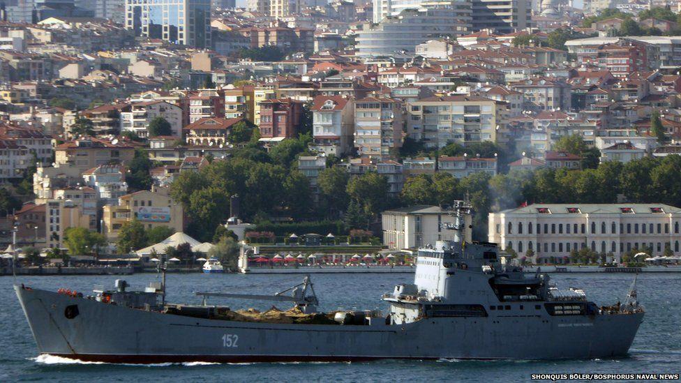 Nikolay Filchenkov seen passing through Bosphorus