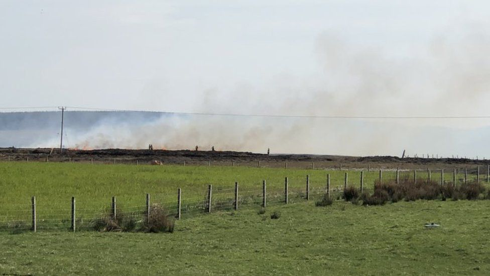 Crews from across Caithness, Sutherland and Easter Ross have been mobilised to tackle wildfires over the last two days.