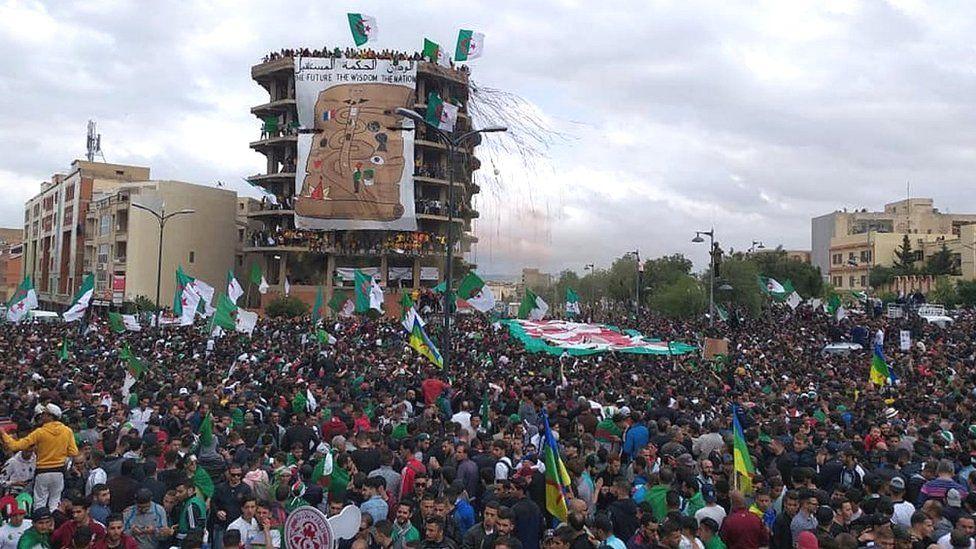 مظاهرات الجزائر: كيف انتقلت ظاهرة التيفو من ملاعب كرة القدم إلى الحراك الشعبي؟