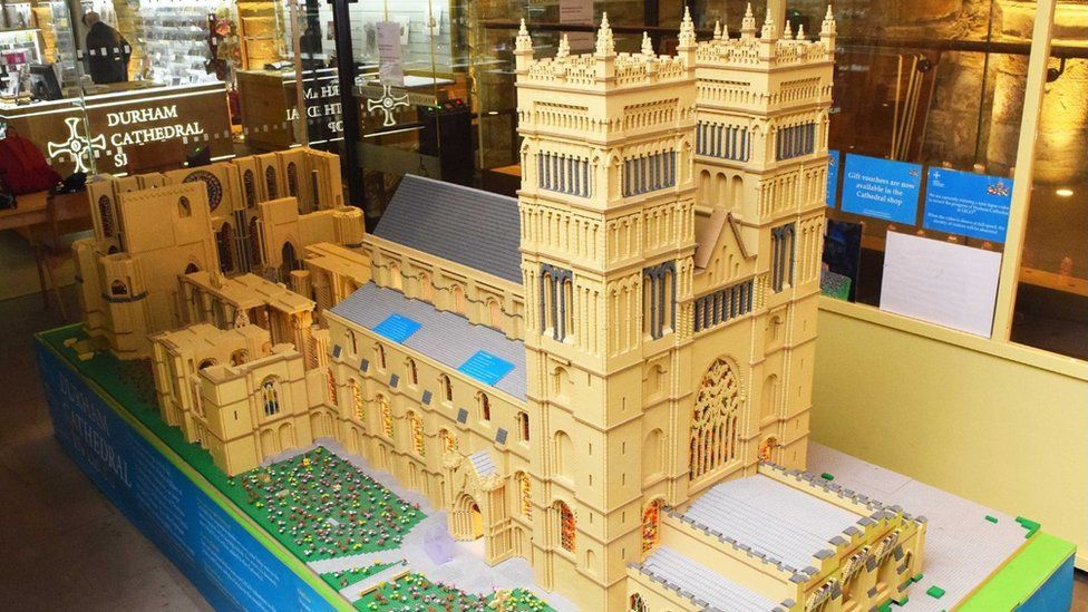 Lego model of Durham Cathedral