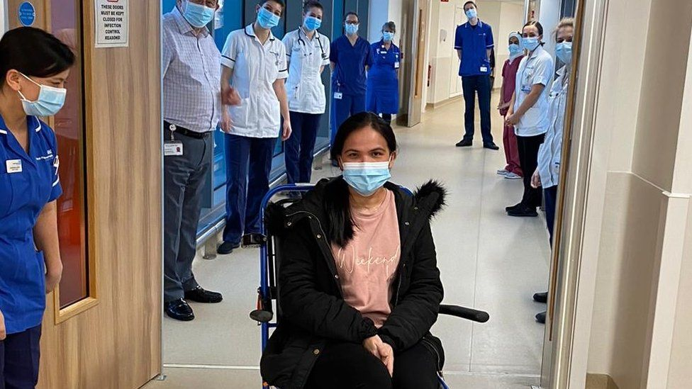 Eva Gicain leaves hospital after being treated for Covid-19