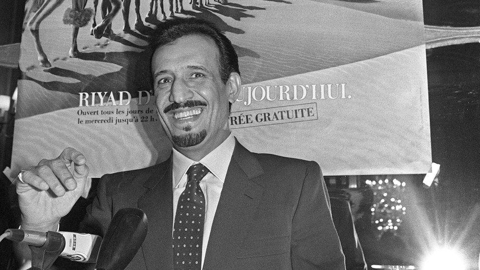 Prince Salman bin Abdulaziz addresses media in Paris, France (5 December 1986)