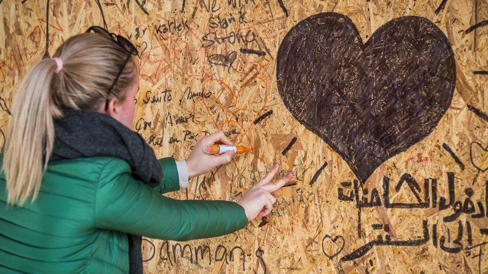 A memorial in Stockholm