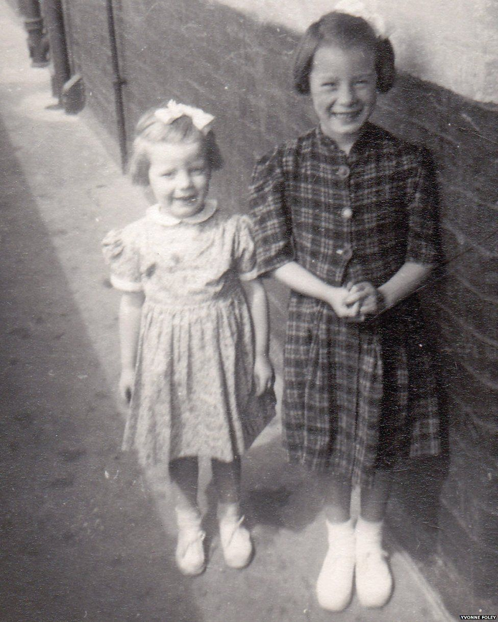 Yvonne and Mary in 1953