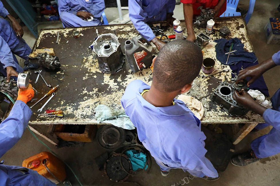 Defectors learn how to fix cars