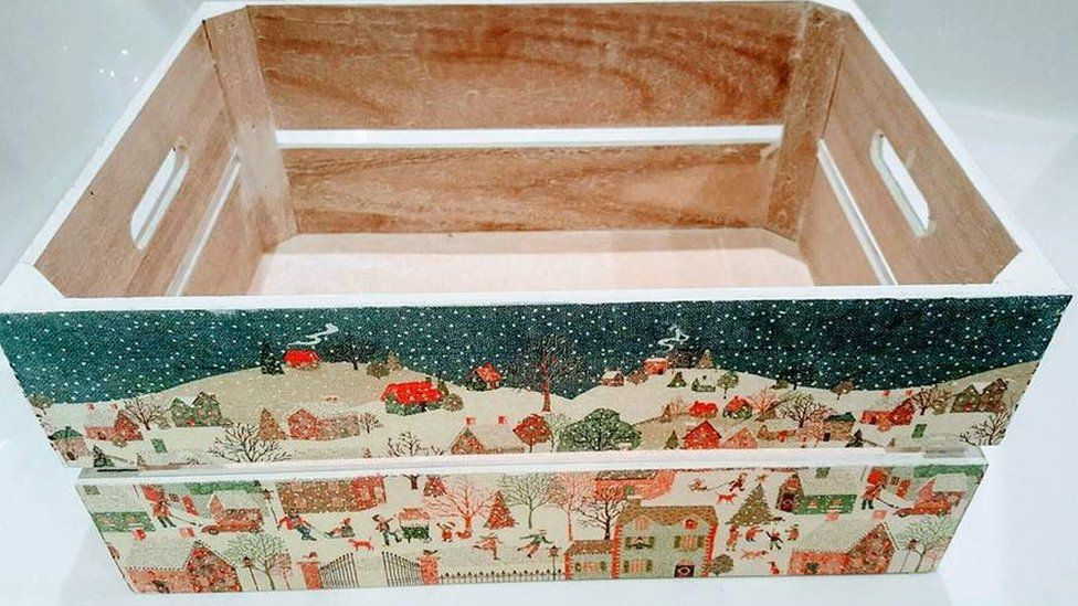 A painted Christmas box