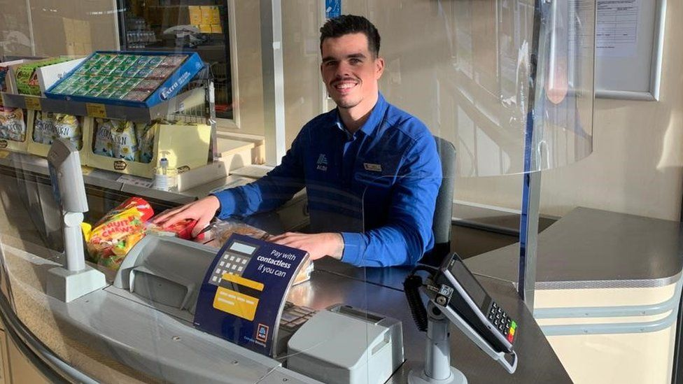Aldi is one of the supermarkets installing protective glass