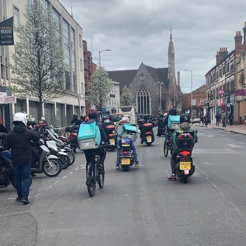 Deliveroo ride along
