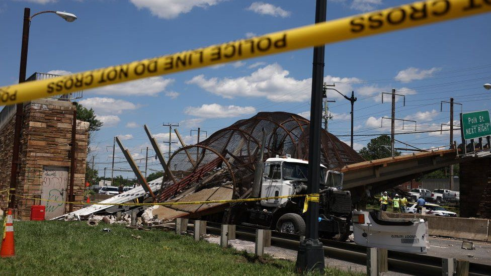 A bridge collapsed on to a highway in Washington DC one day before the deal was struck