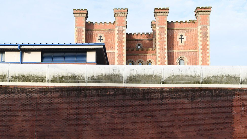 The curtain wall of HMP Liverpool