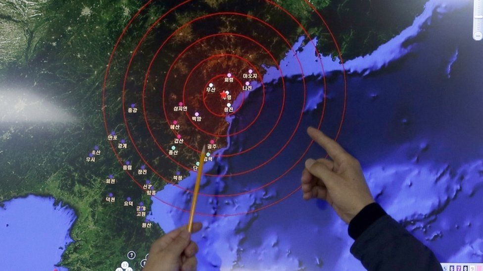 Seismic waves seen around North Korea