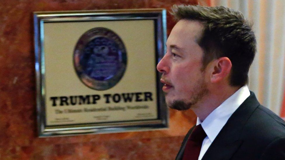 Elon Musk at Trump Tower last year