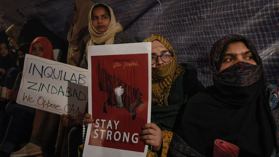 Protesters at Shaheen Bagh