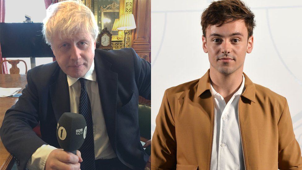 Boris Johnson and Tom Daley