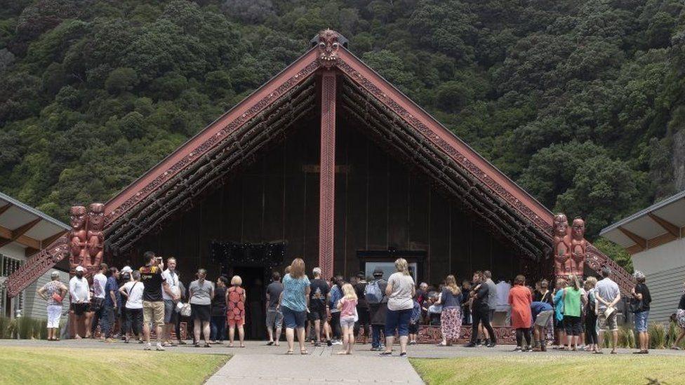 The minute's silence was marked in Whakatane, a coastal town near White Island