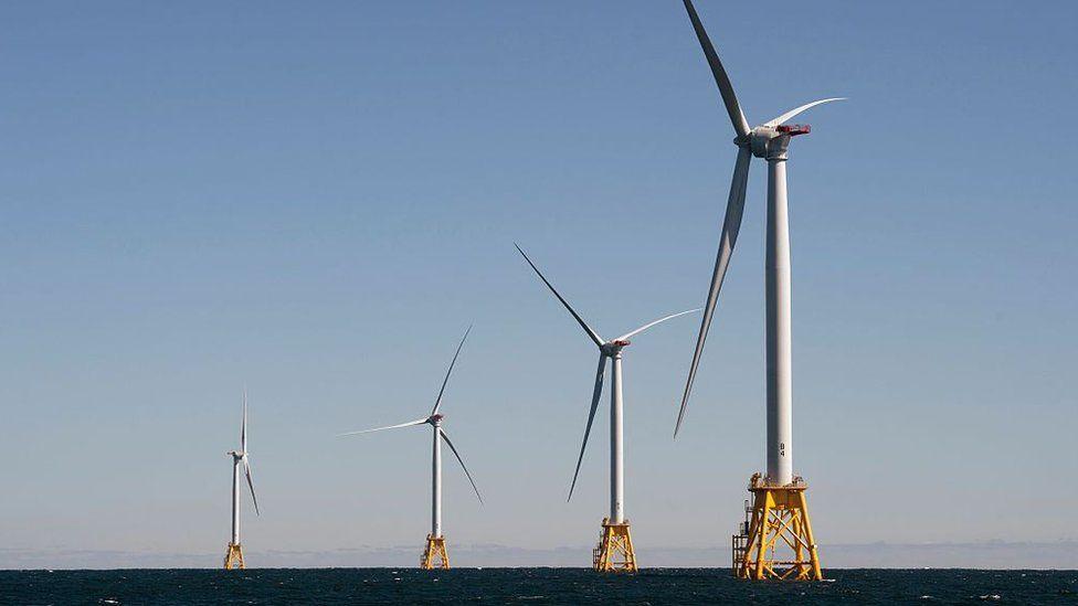 The Block Island Wind Farm, located off the Rhode Island coast