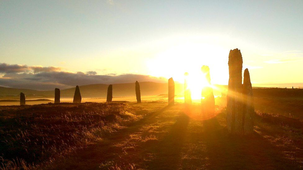 The Ring of Brogar in Orkney for the Winter Solstice