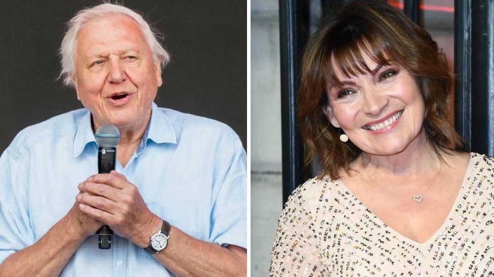 David Attenborough and Lorraine Kelly
