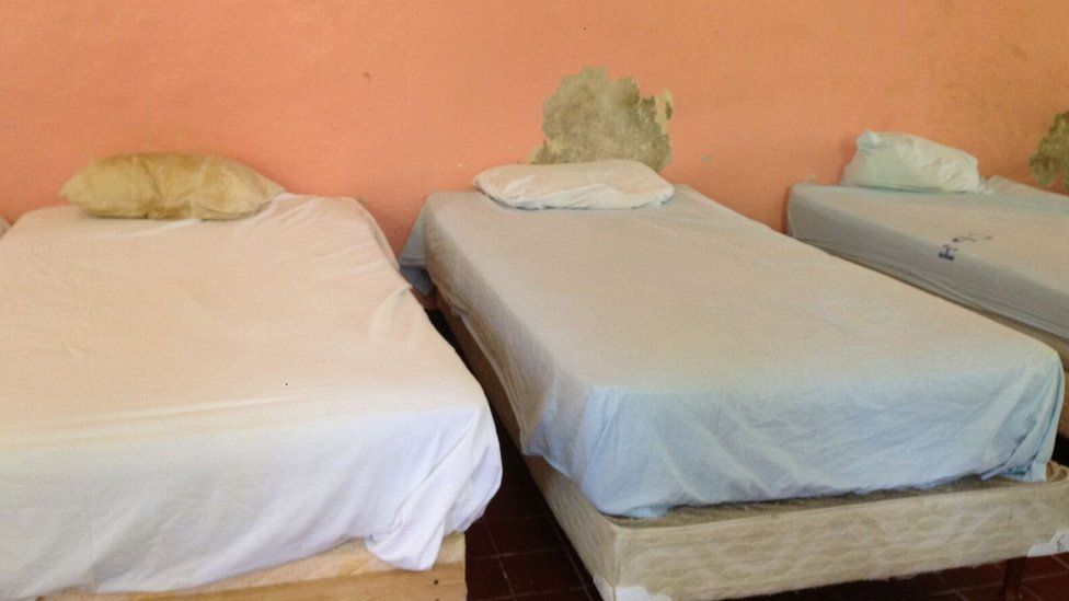 A view of beds in the dormitory a Clarevue
