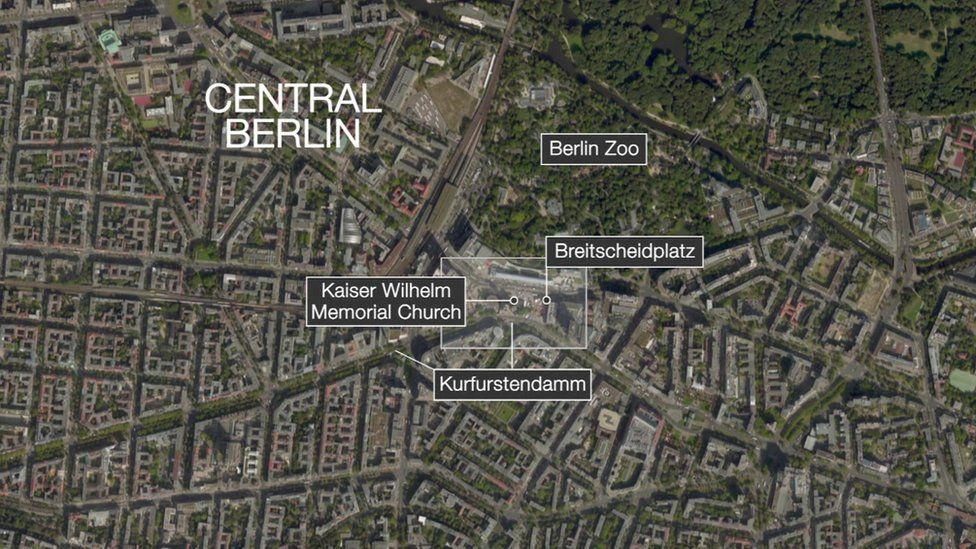 Map of central Berlin