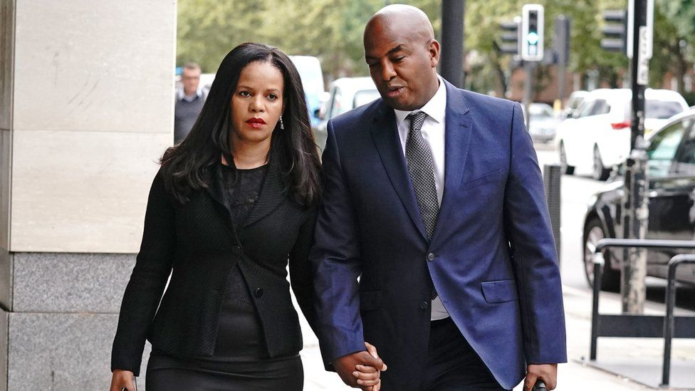 Claudia Webbe with her partner Lester Thomas