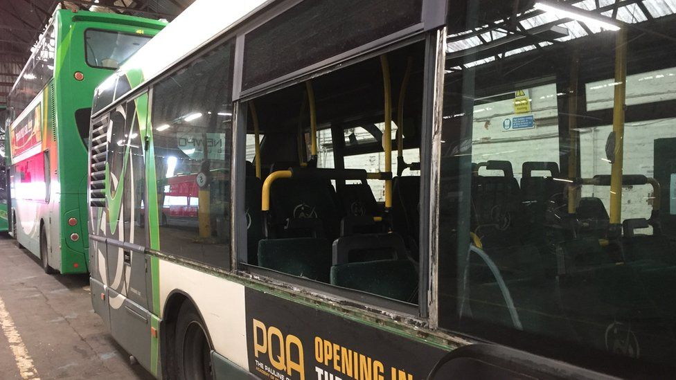 Newport buses have faced an onslaught of mindless violence