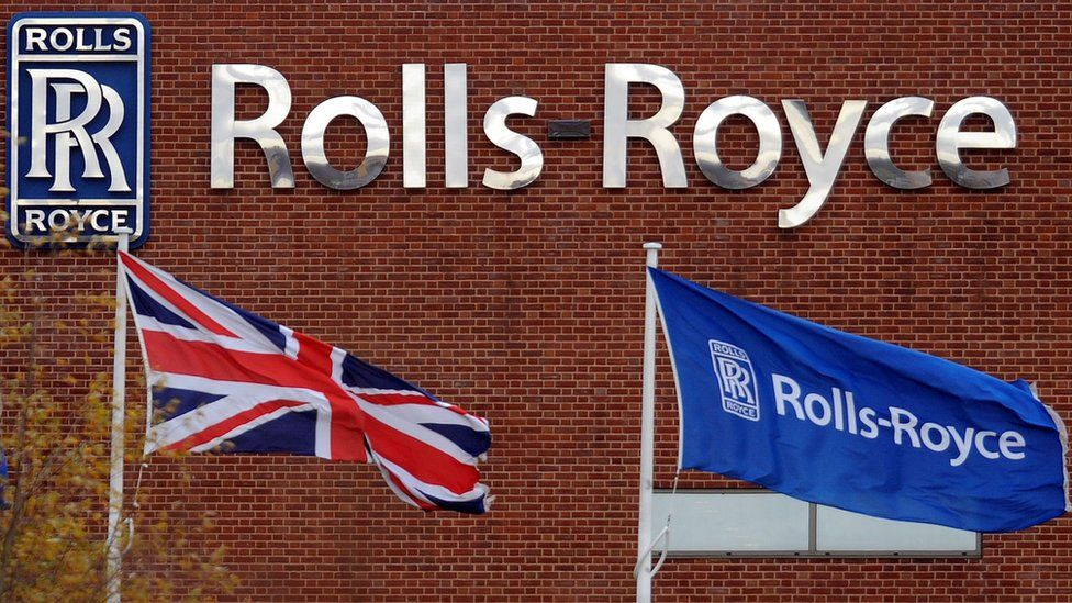 Rolls-Royce sign in Derby