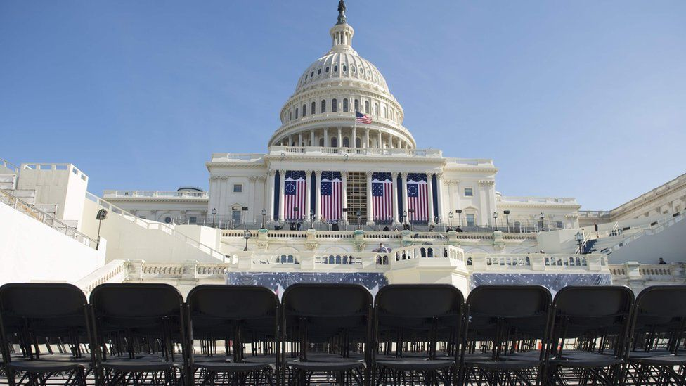 US Capitol is seen during a rehearsal for the inauguration of President-elect Donald Trump