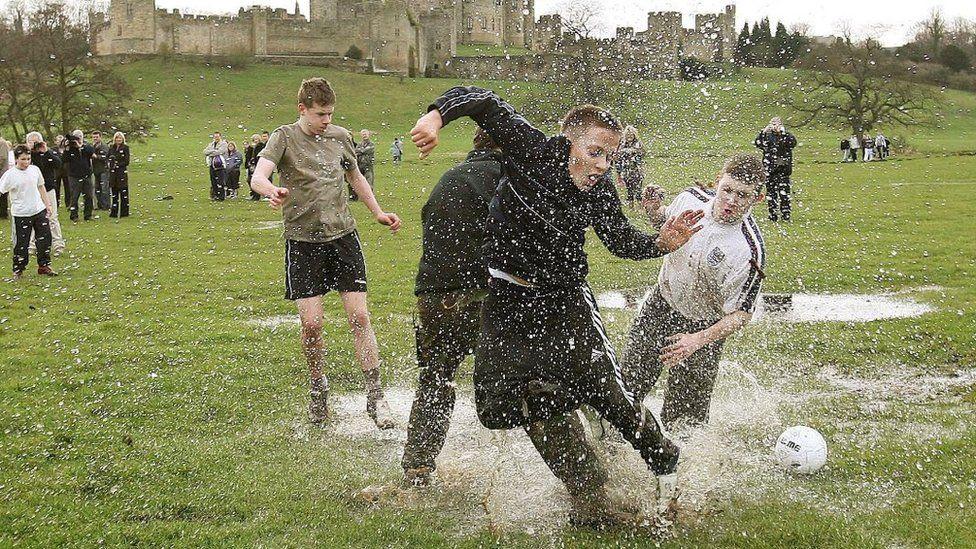 Annual Alnwick Shrove Tuesday football match