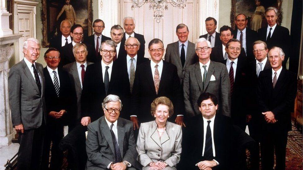 Margaret Thatcher's cabinet in 1989