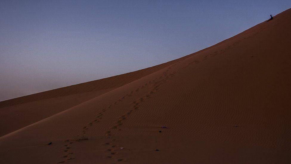 View of the Sahara desert
