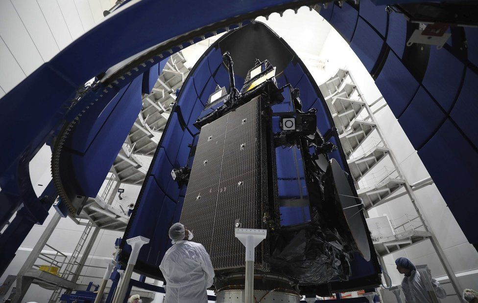Advanced Extremely High Frequency (AEHF-6) communications satellite