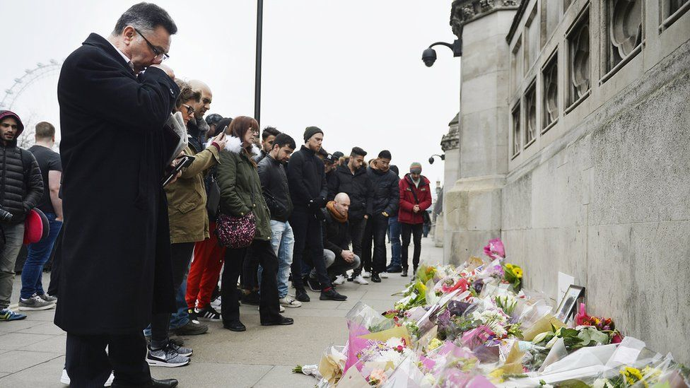 Floral tributes to attack victims