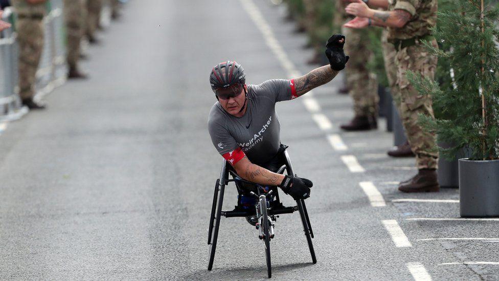 Wheelchair race winner David Weir