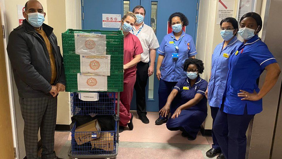 Food donated to hospital staff
