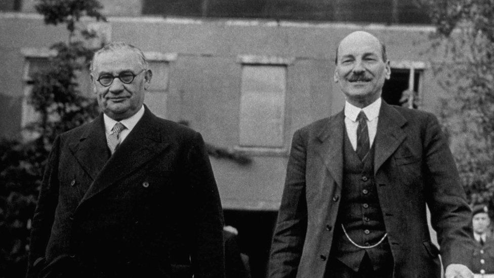 Ernest Bevin and Clement Attlee
