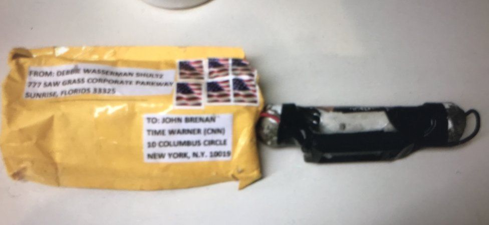 An image of the bomb that was sent to CNN