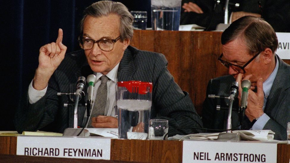 Richard Feynman speaking at the presidential commission into the Challenger crash