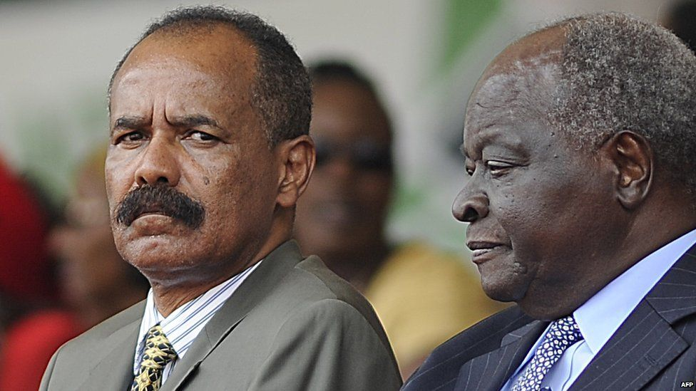 Eritrean President Isaias Afewerki (left)