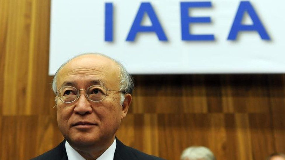 Yukiya Amano at an IAEA event
