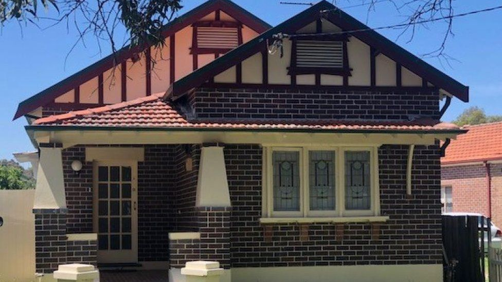 An exterior view of the brick house in Sydney suburb Ashbury