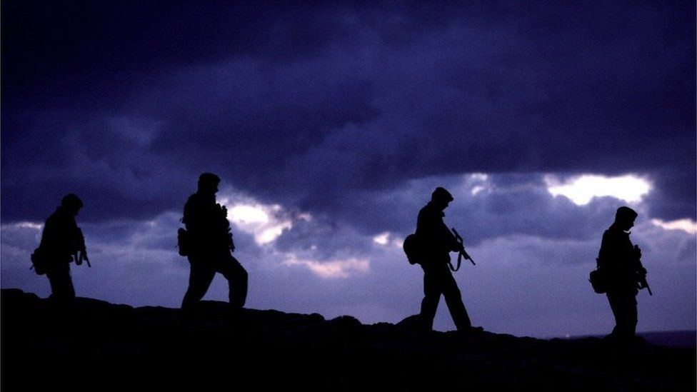 Army silhouettes