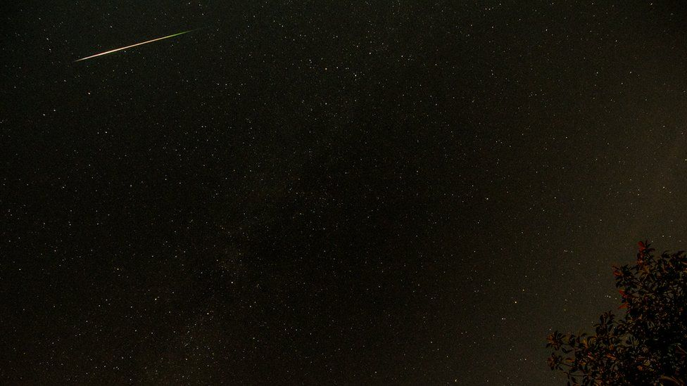 Perseid meteor shower in Leicestershire