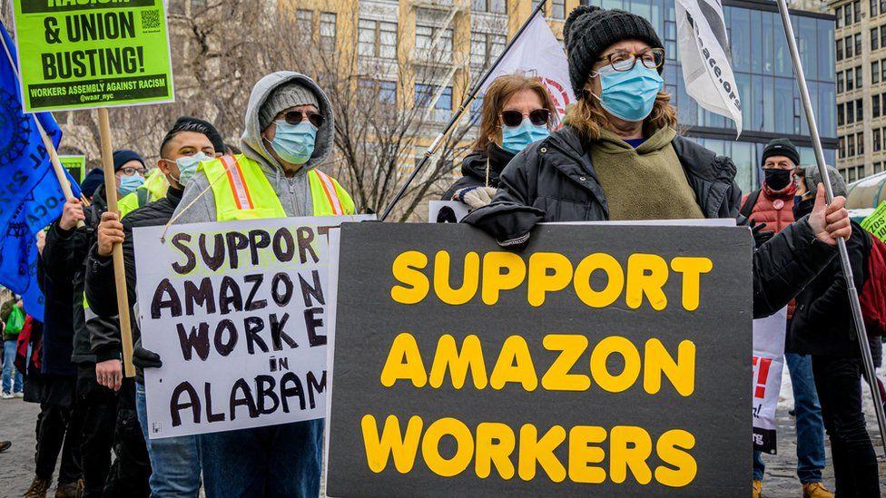 Anti-Amazon union rally