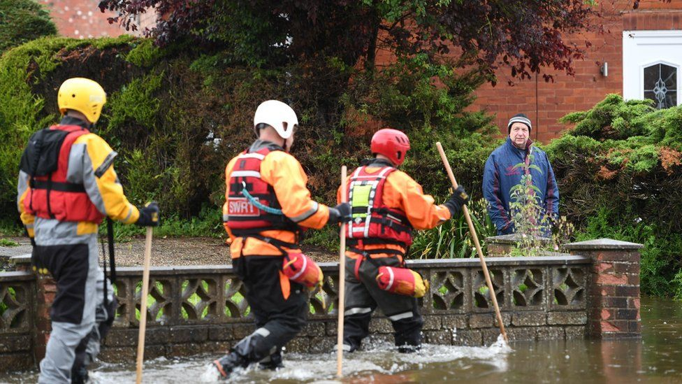 Rescue workers in Wainfleet