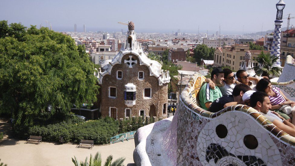 Young people in Barcelona