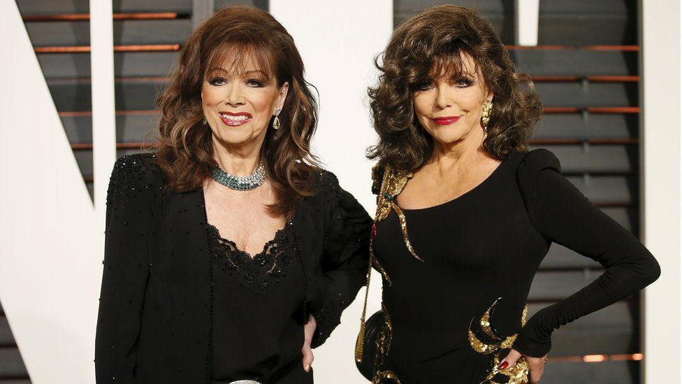 Jackie and Joan Collins in February 2015