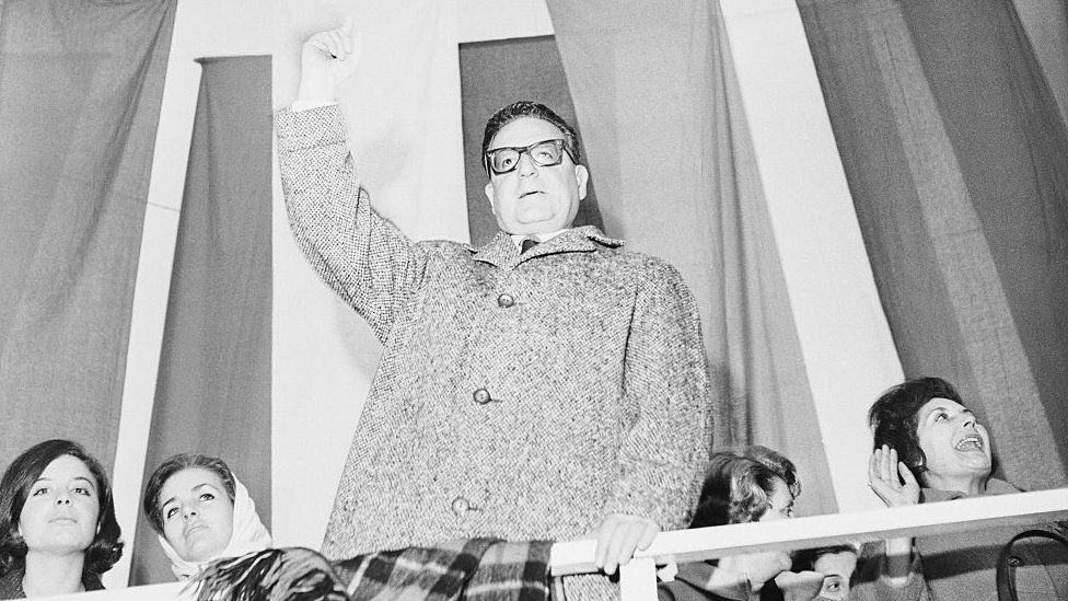 Salvador Allende addresses a rally on 1 August 1964