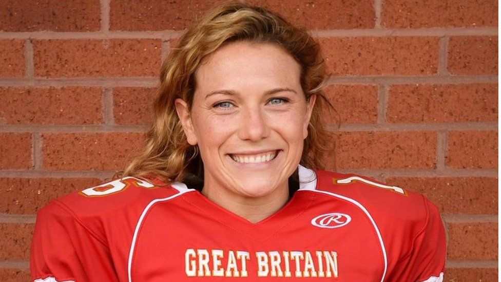 Picture of Phoebe Schecter in Great Britain American football kit